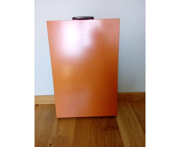 Orange folding camping table