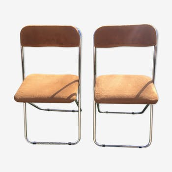 Pair of chairs color mocha