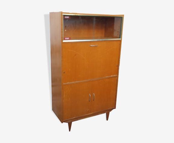 meuble bureau secr taire vintage ann es 60 bois. Black Bedroom Furniture Sets. Home Design Ideas