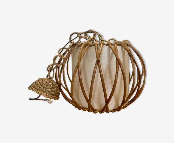 1950 rattan suspension by Louis Sognot