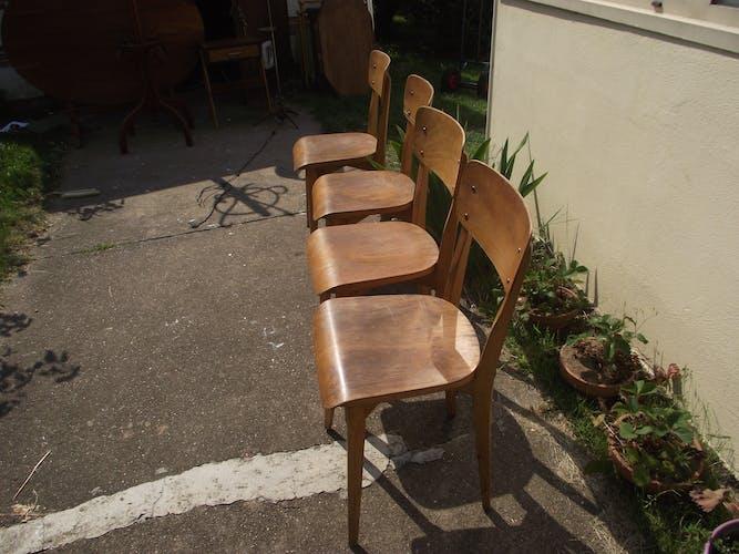 4 chaises bistrot années 50