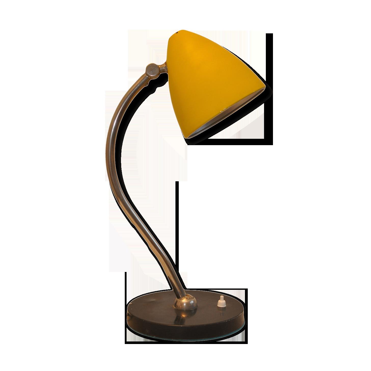 Lampe de bureau jaune métal jaune vintage lyws ri