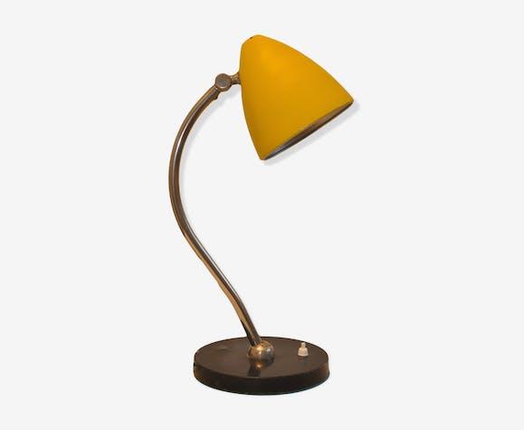 Lampe de bureau jaune métal jaune vintage lyws5ri
