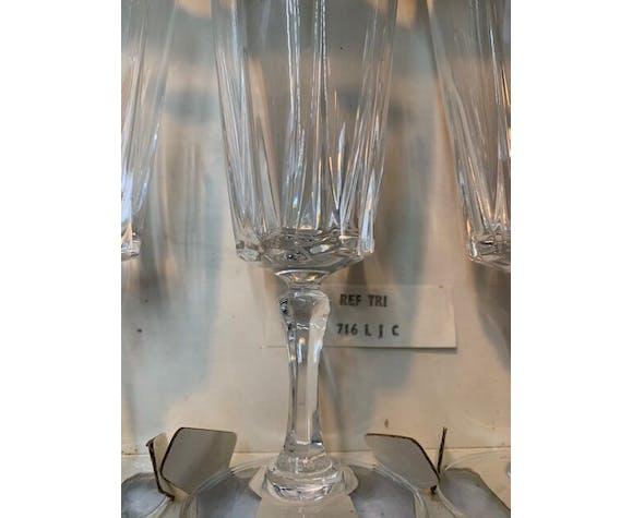 6 flûtes à champagne cristal d'Arques modèle Versailles