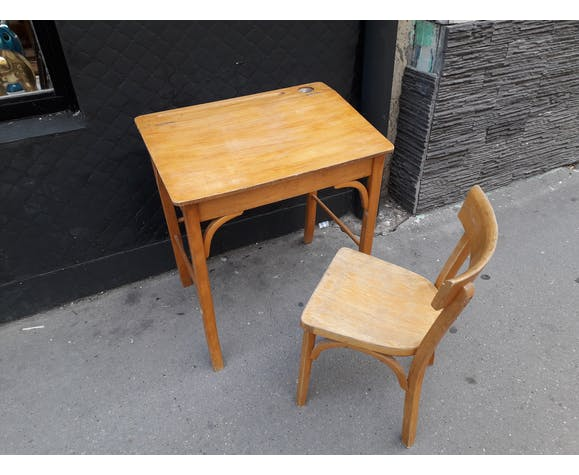 Child desk and vintage chair