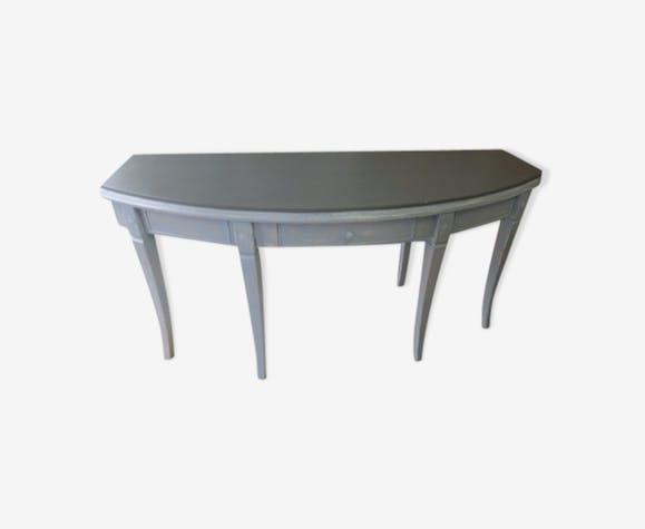 Bureau en bois peint vieilli bois matériau gris classique