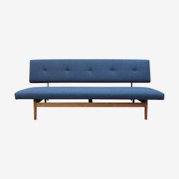 Canapé 3 places en tissu bleu foncé