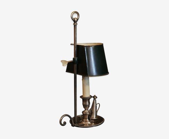 Lampe bouillotte bronze argenté tôle XIXème siècle