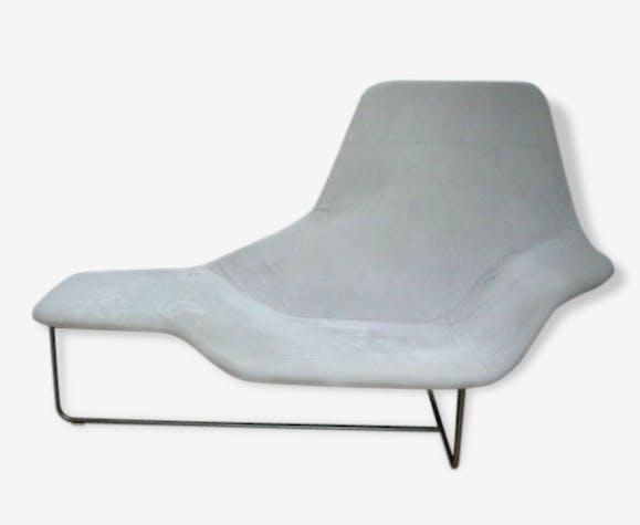 Chaise Longue Zanotta - Lama 921 - peau - gris - design - 68449 on chaise recliner chair, chaise furniture, chaise sofa sleeper,