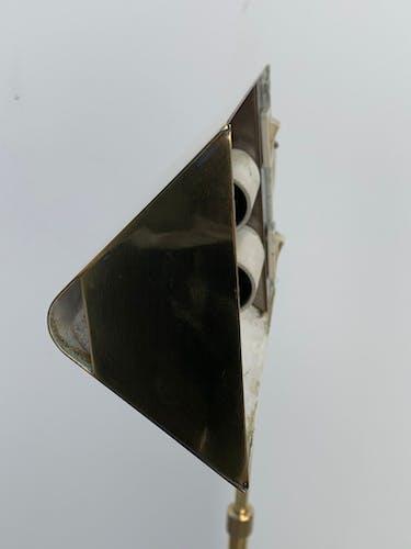 Lampadaire ou liseuse en laiton réglable et orientable de Cédric Hartman, 1960