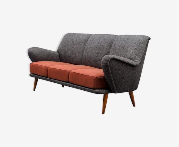 Cocktail sofa, three-seater, restored 50