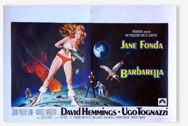 Affiche cinéma originale 1968,Barbarella.Jane Fonda