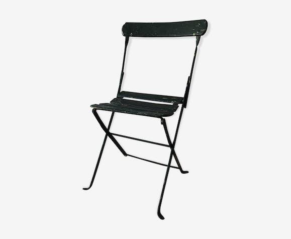 BHV - Chaise pliante de jardin ancienne - bois (Matériau) - vert ...