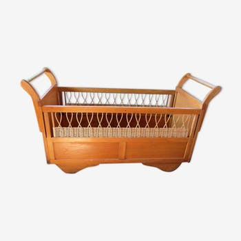 Bed trailer wood and rattan
