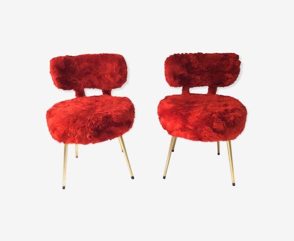 """Paire de chaise """"moumoute"""" Pelfran"""