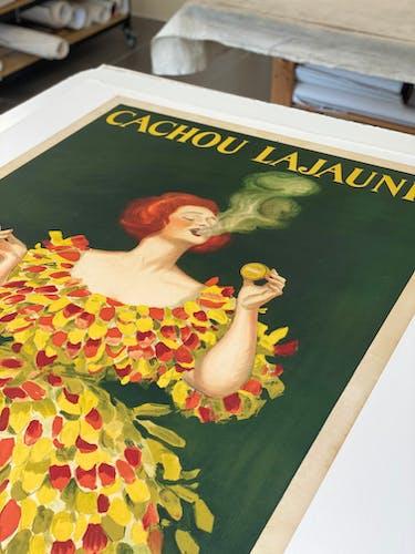 Affiche ancienne originale Cachou Lajaunie - Cappiello