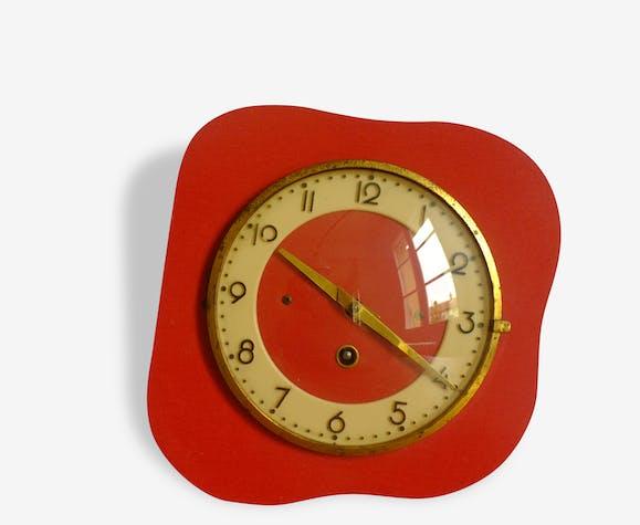 horloge formica rouge ann es 50 formica rouge vintage 54235. Black Bedroom Furniture Sets. Home Design Ideas