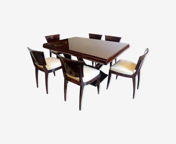 Dining Table Art Deco Rosewood From India 6 Chairs Design 20 30s