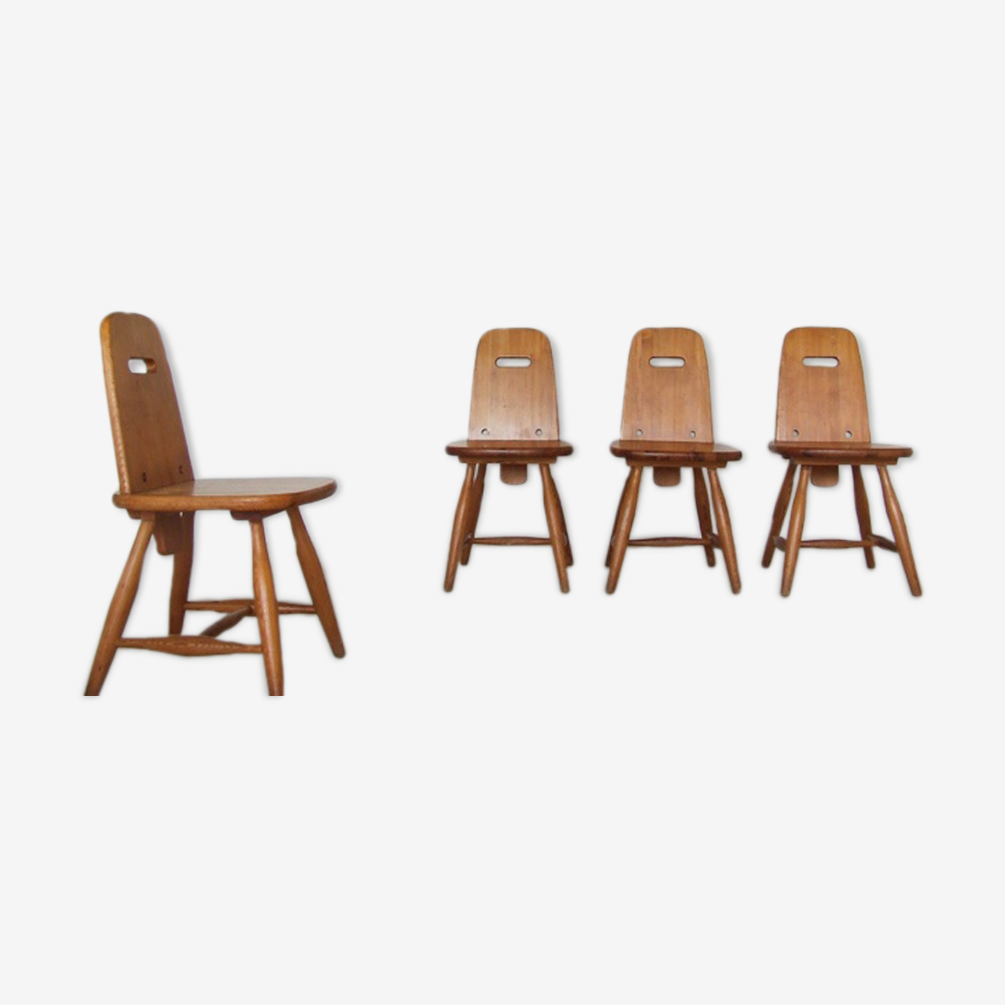 Set of 4 Pirtti lounge chairs by Eero Aarnio for Laukaan Puu