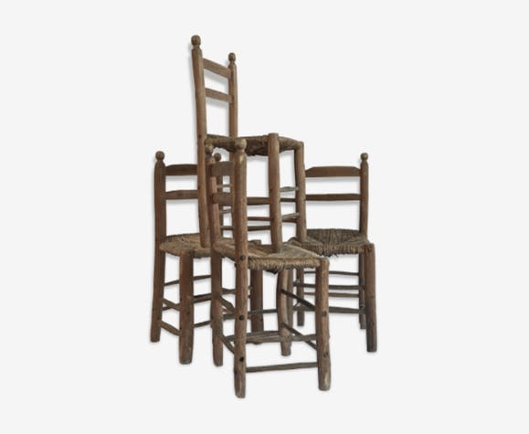 Set of 4 chairs Provence 1850's