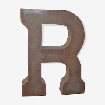 """Lettre industrielle en fer """"r"""""""