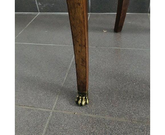 Chaise Gondole Empire en acajou à décors de bronze - tapissée de velours
