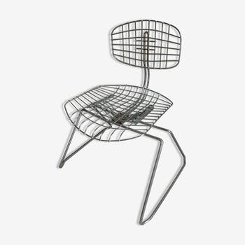 "Chair ""Beaubourg"" of the 1970s by designer Michel Cadestin"