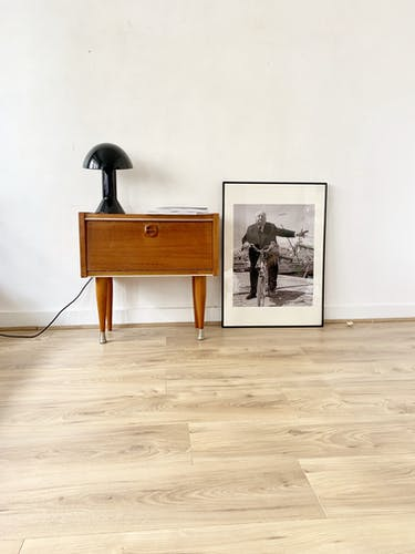Chevet table de nuit scandinave en teck