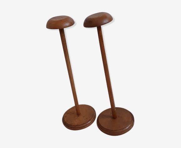 Duo de porte chapeau en bois massif