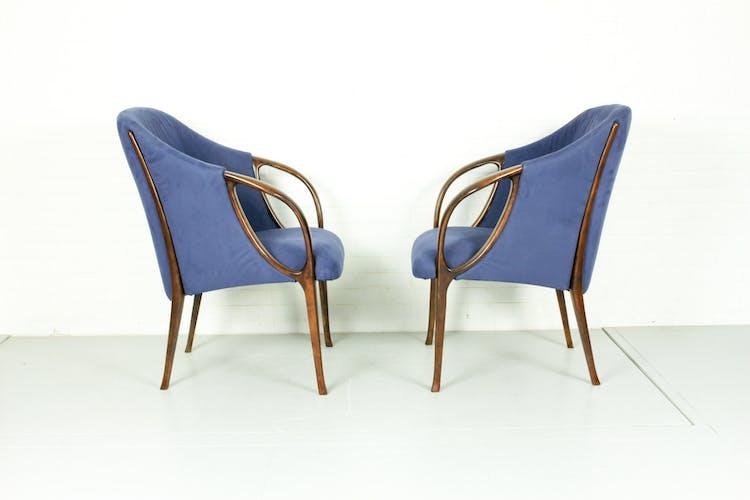 Paire de fauteuils Italie, années 1980