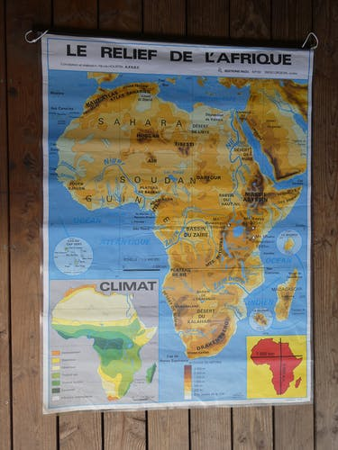 School map poster vintage Africa edition MDI