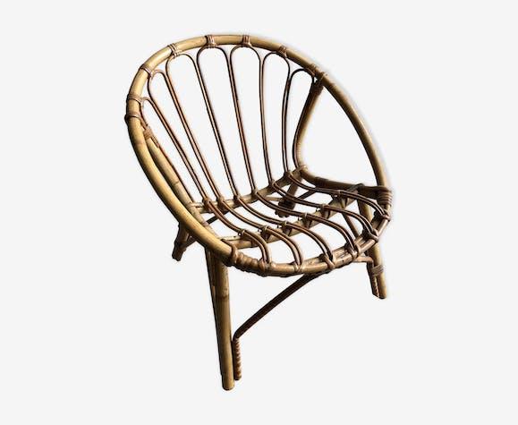 Rattan armchair for children