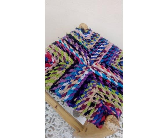 Tabouret multicolore marocain