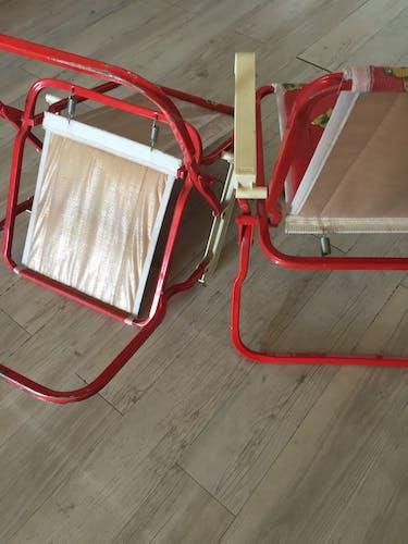 Paire de fauteuils pliants enfants