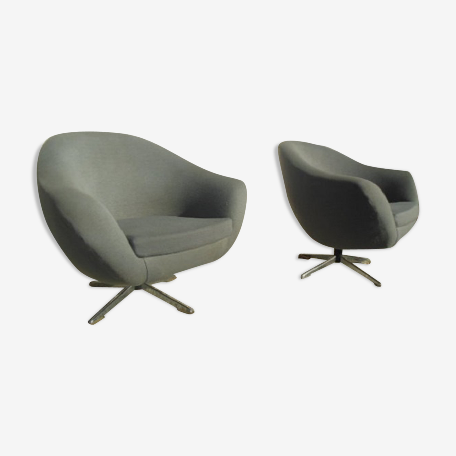 Year 70 vintage shell chairs