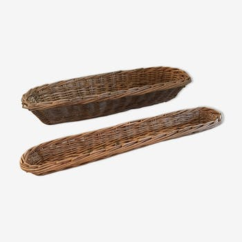 Corbeilles à pain et baguettes vintage