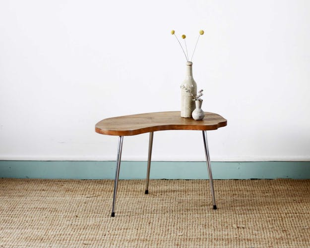 Wooden tripod coffee table