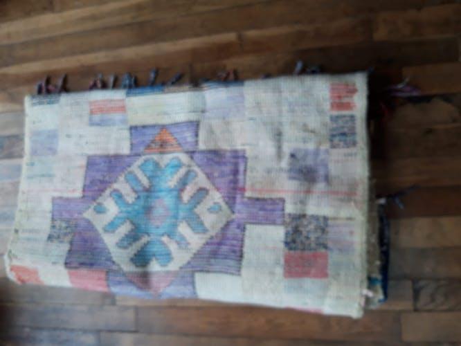 Tapis boucherouite ancien 87x186cm