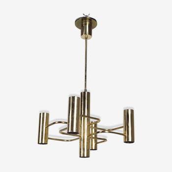 Vintage Leola brass chandelier
