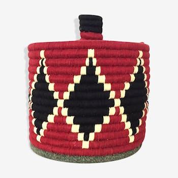 Boîte berbère noire et rouge