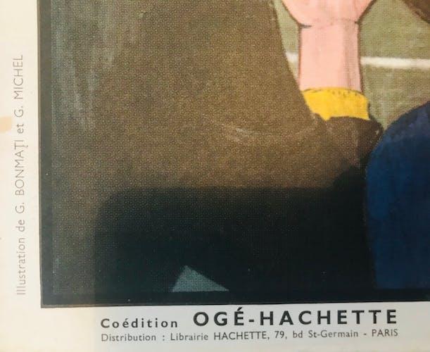 Affiche scolaire pédagogique recto verso: La stade (#26) et La ménagerie (#31)