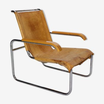 B35 leather lounge chair by Marcel Breuer for Thonet, 1930