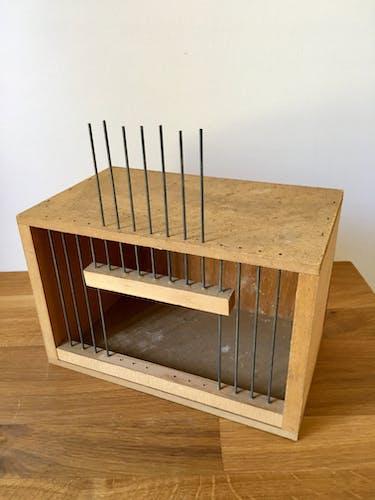 Cage à oiseaux en bois et acier