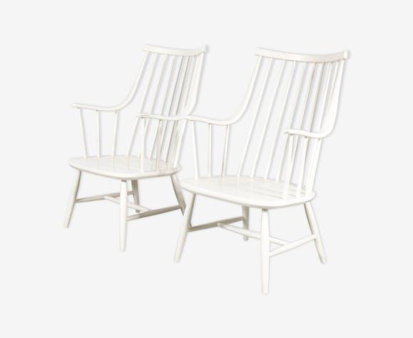 Paire de fauteuils par Lena Larsson fabriqué par Nesto en Suède 1950