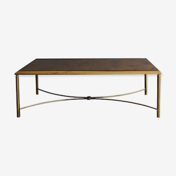 Table basse en bronze doré
