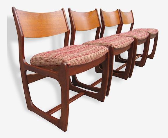Set de 4 chaises scandinaves 1950
