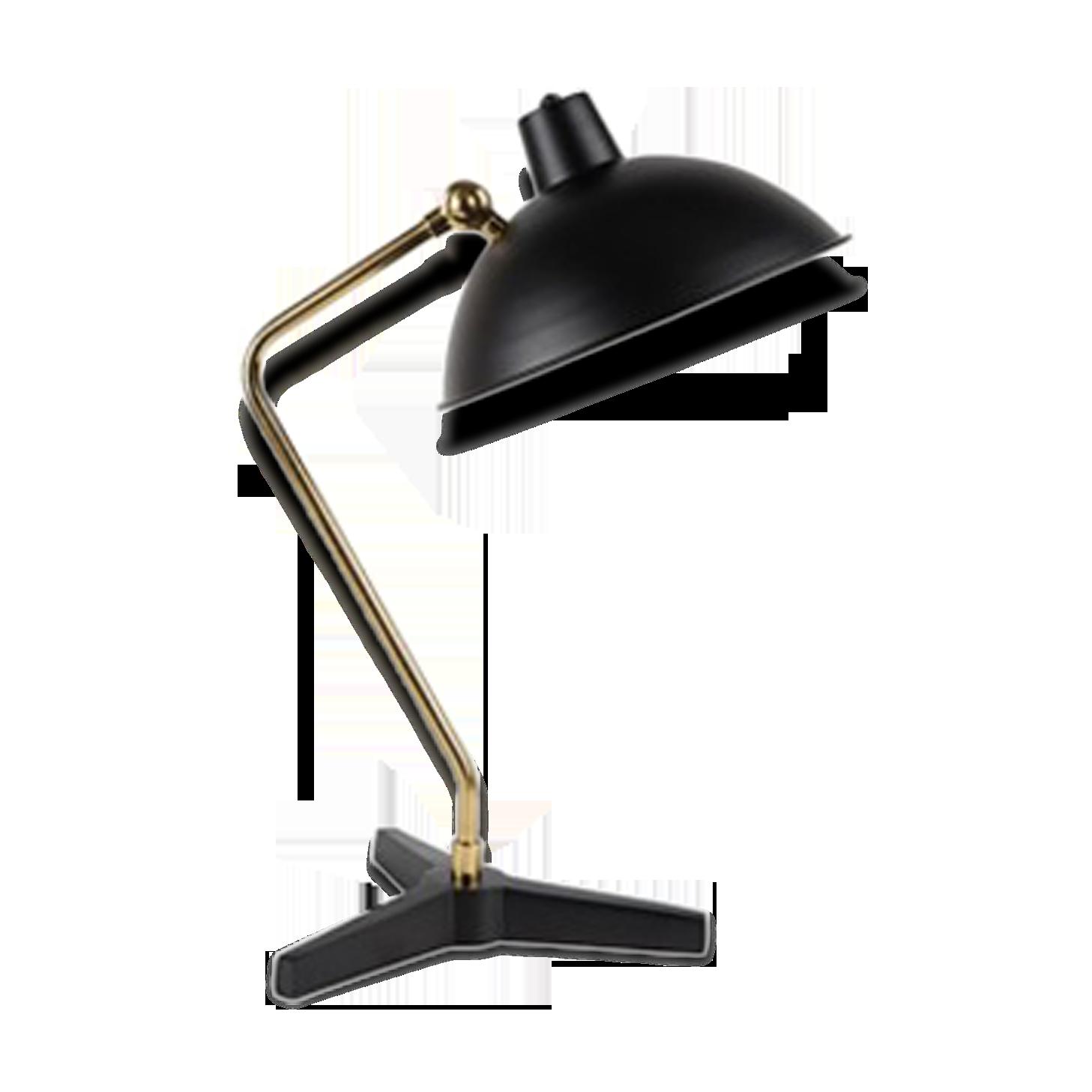 Lampe de bureau noir et laiton laiton noir vintage j pxb j