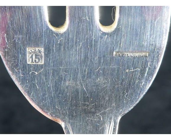 Set de 12 fourchettes a huitres Boulenger en metal argenté modele regence berry