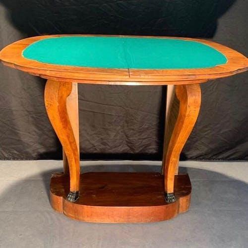 Table à jeux demi-lune