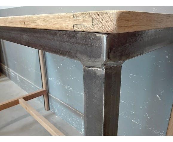 Table Haute Bar Ilot Central Style Industriel Selency